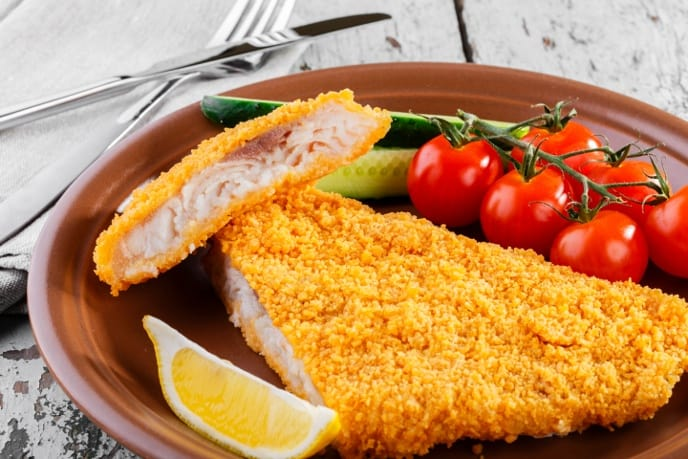 calories in fried catfish