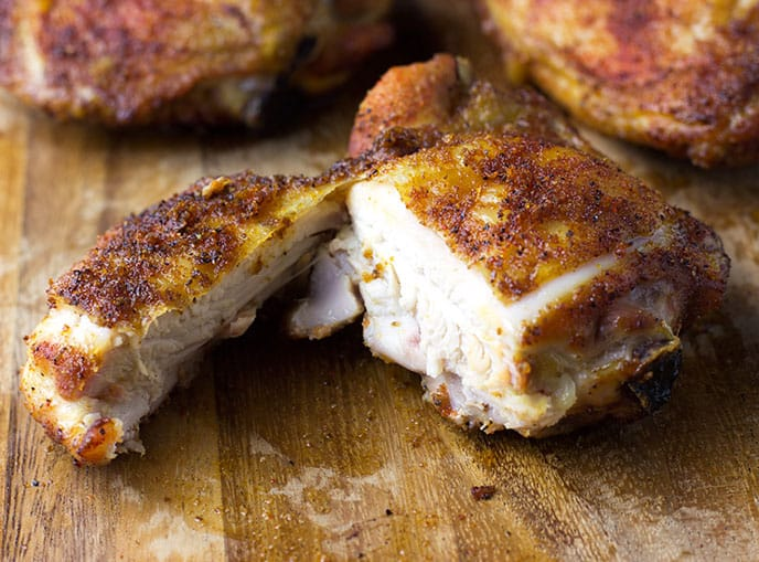 smoked chicken thighs recipe