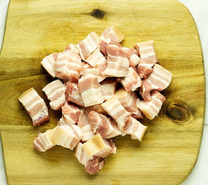 air fryer pork belly pieces
