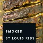smoked st louis ribs pinterest pin